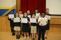 4th Grade Students Earn Honors in National French Contest