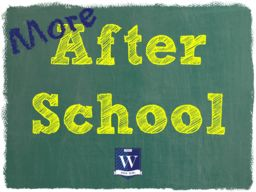 NEW After-School Activities Added